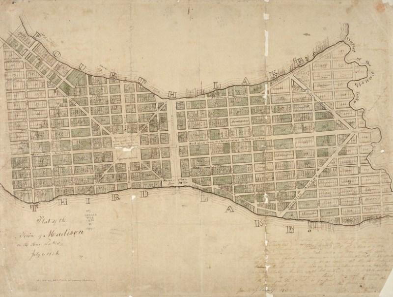 1836 plat map of Madison