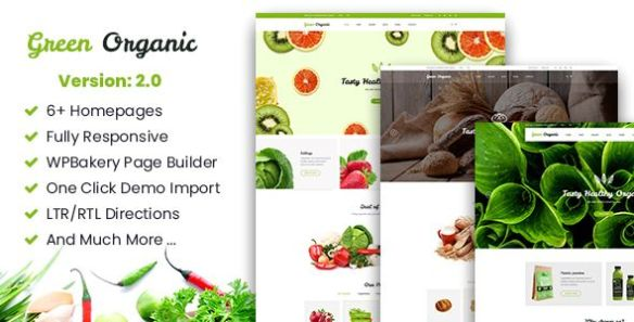 Green Organic WordPress Theme