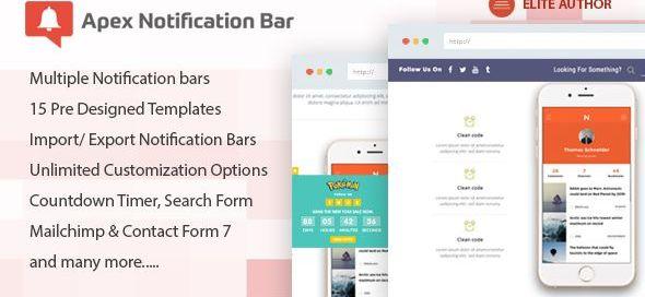 Apex Notification Bar