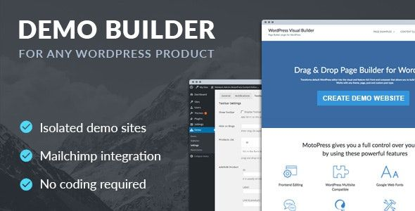 Demo Builder for any WordPress Product v1 6 1 | Free