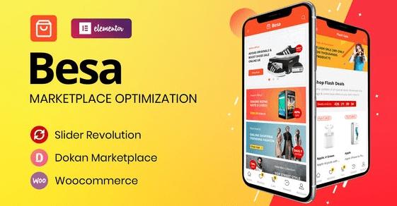 Besa Theme Elementor Marketplace WooCommerce theme