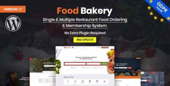 FoodBakery WordPress Restaurant Theme