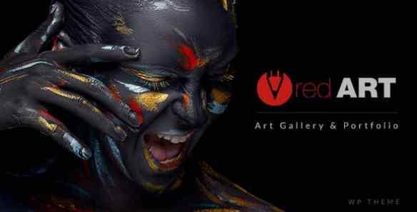Red Art Artist Portfolio
