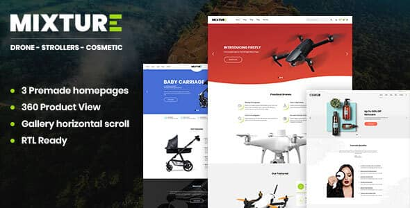 mixture single product shopify theme