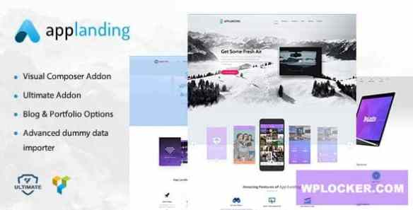 App Landing and Product Promotion WordPress Theme