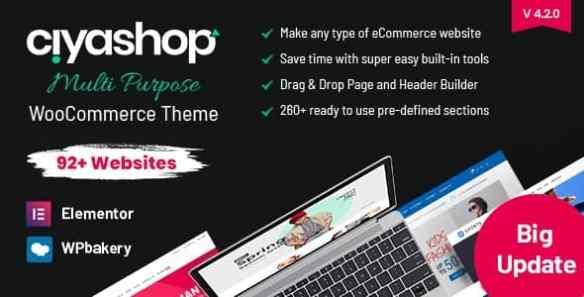CiyaShop Responsive WooCommerce WordPress Theme