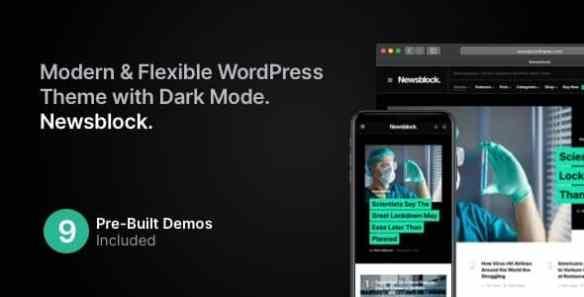 Newsblock News and Magazine WordPress Theme