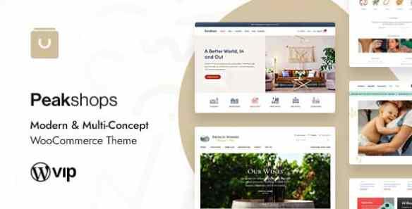 PeakShops Multi Concept WooCommerce Theme