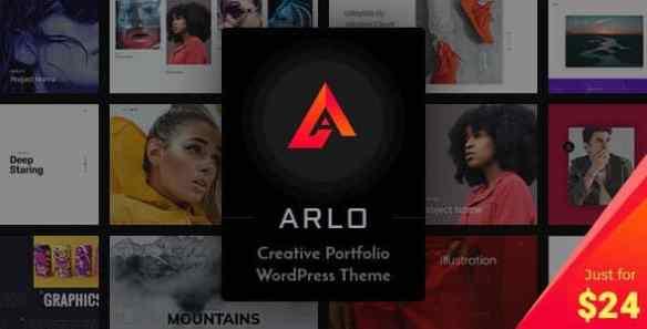 arlo portfolio wordPress theme