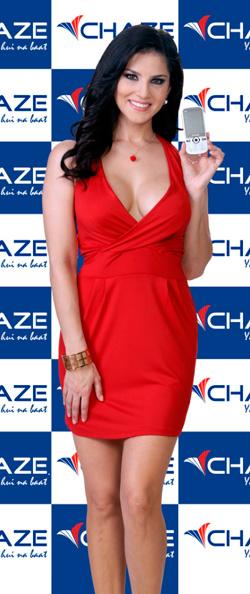Sunny Leone Brand Ambassador Chaze Mobile
