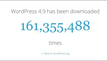 {{number|current number} of downloads of the latest WordPress version|{WordPress|WP} downloads}