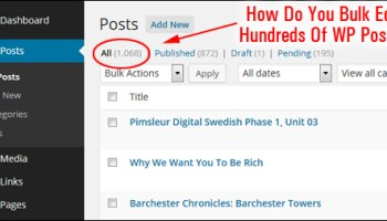 How do you bulk edit hundreds of WordPress posts?