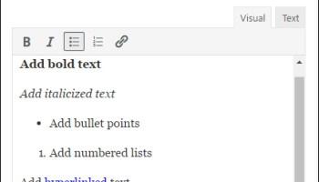 Rich Text Widget