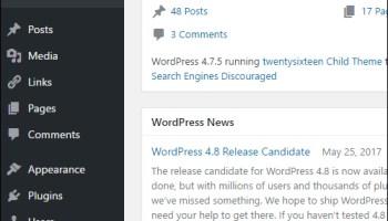 WordPress Tools menu