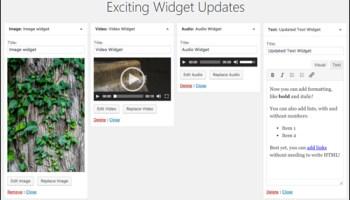 WordPress 4.8 - WordPress Widget Updates