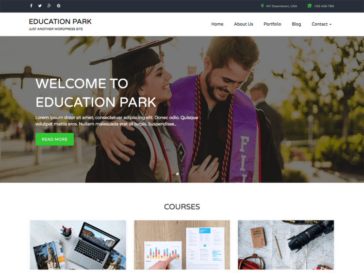 EducationPark-best-free-responsive-education-WordPress-themes-WPreviewteam