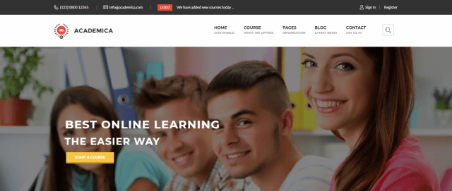 Academica, 20+ Best Education WordPress themes 2018, Best education themes 2018