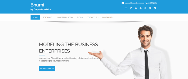 15 highly customizable wordpress themes for corporate business bhumi premium wordpress themes for corporate busimess best multipurpose wordpress themes of 2018 cheaphphosting Choice Image