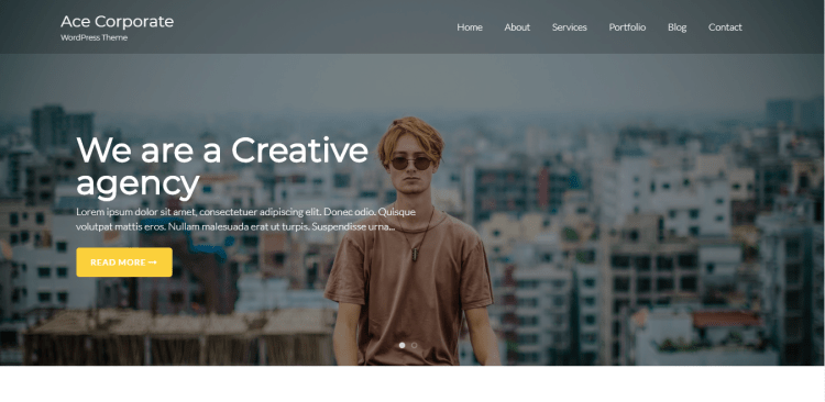 Ace Corporate, Free WordPress themes