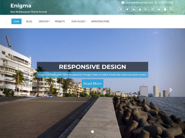 Enigma, Free WordPress themes