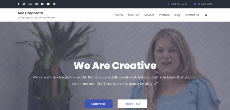 Ace4 Corporate Pro, Premium WordPress themes for Corporate Business