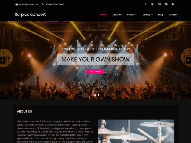 Free WordPress themes for musicians
