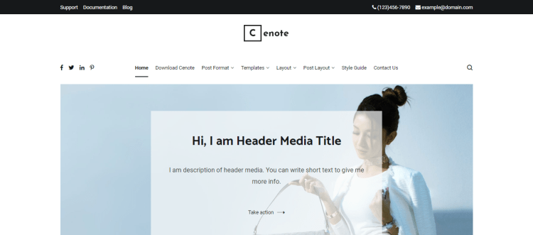 Cenote, Free responsive WordPress themes