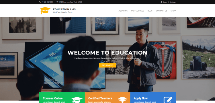 Best Free WordPress themes, Education LMS