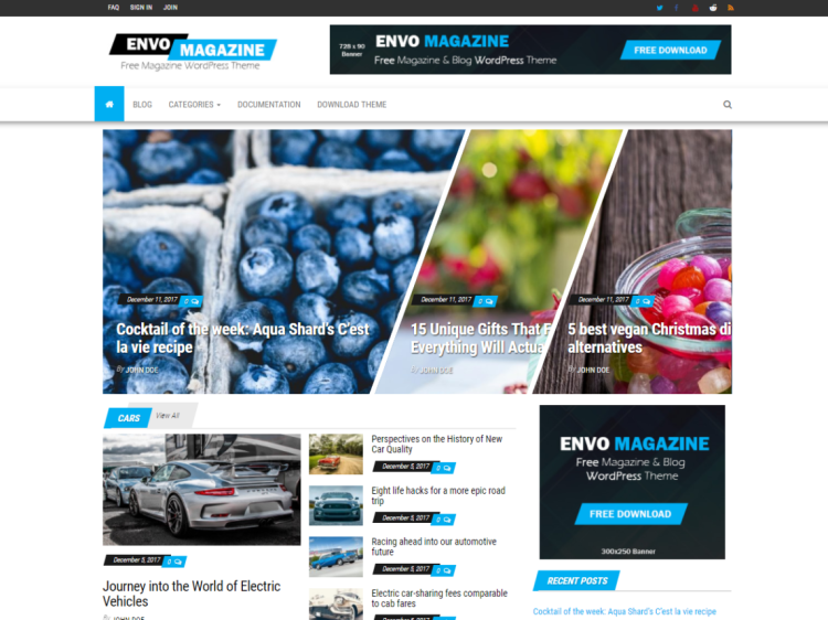 EnvoMagazine-free-best-WordPress-blogging-themes-WPreviewteam