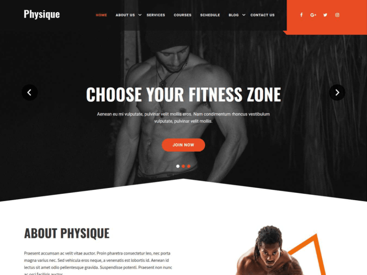 Physique-best-free-fitness-WordPress-themes-WPreviewteam