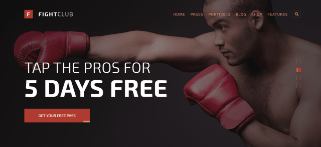 fight club wordpress premium theme