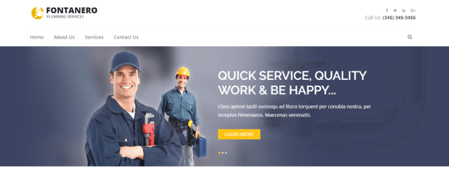 free wordpress theme for plumber