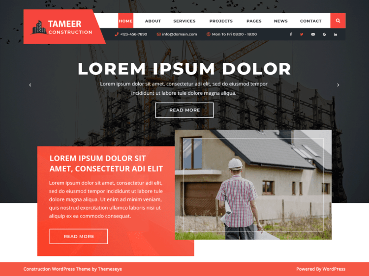 TameerConstruction-free-construction-WordPress-theme-WPreviewteam