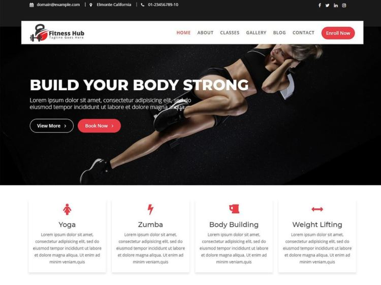 FitnessHub-best-free-WordPress-fitness-theme-WPreviewteam