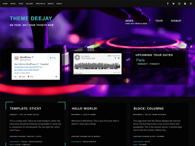 Deejay-top-best-free-music-musicians-WordPress-themes-Yudleethemes
