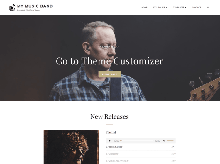 best music WordPress themes for musicians