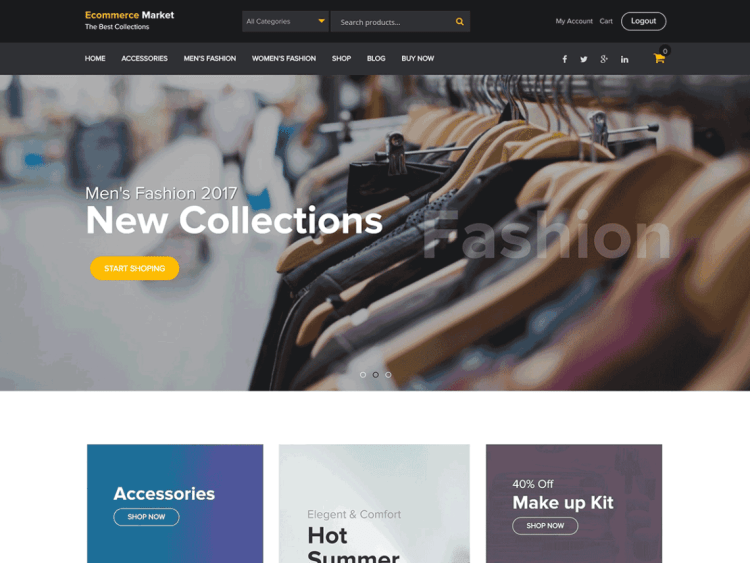 top free eCommerce WordPress themes