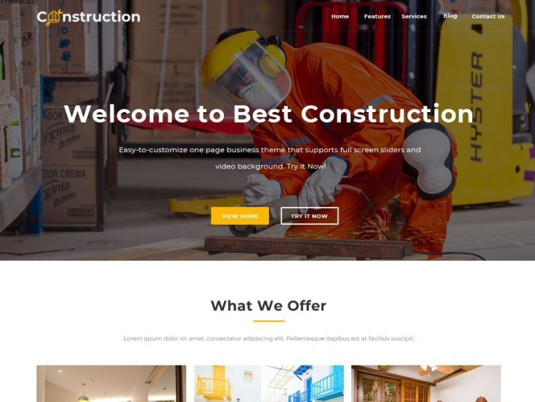 Best Construction-free-WordPress-theme-WPreviewteam