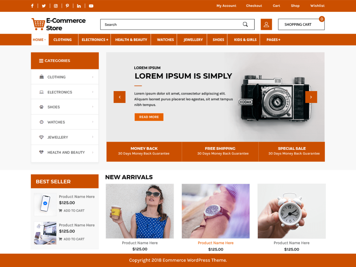 Top 60 Best Free Ecommerce Wordpress Themes For 2020 Updated Wp Review Team