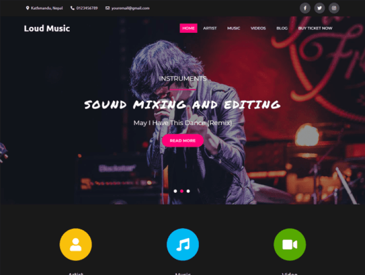LoudMusic-best-free-music-WordPress-themes-WPreviewteam