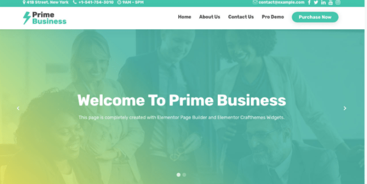 Prime Business-free-best-business-WordPress-theme-WPreviewteam
