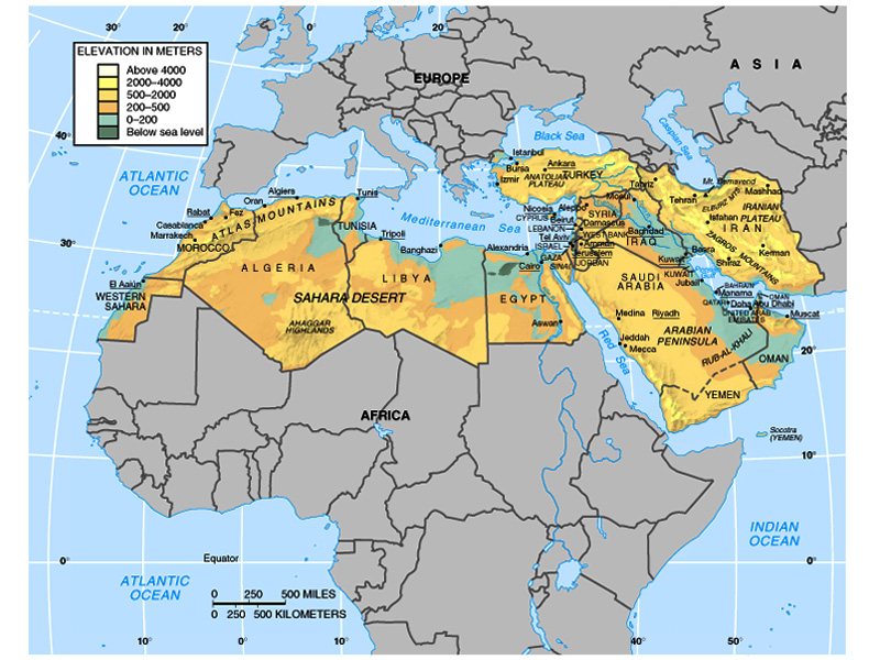 Check this map of North Africa and the Middle East to locate the Zagros