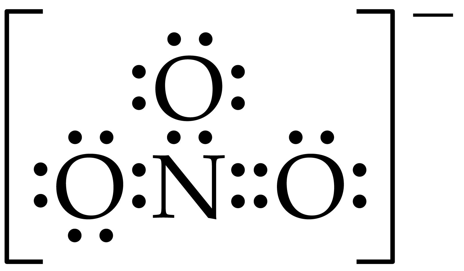 Nitrate Lewis Structure