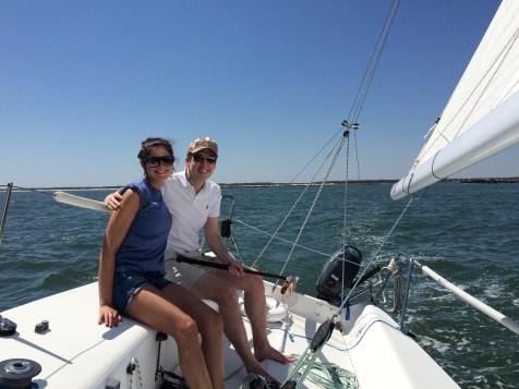 couple   sailing   cruise   charter   j80   wirhgtsville   beach   sailboat   summer   date   north carolina   wilmington