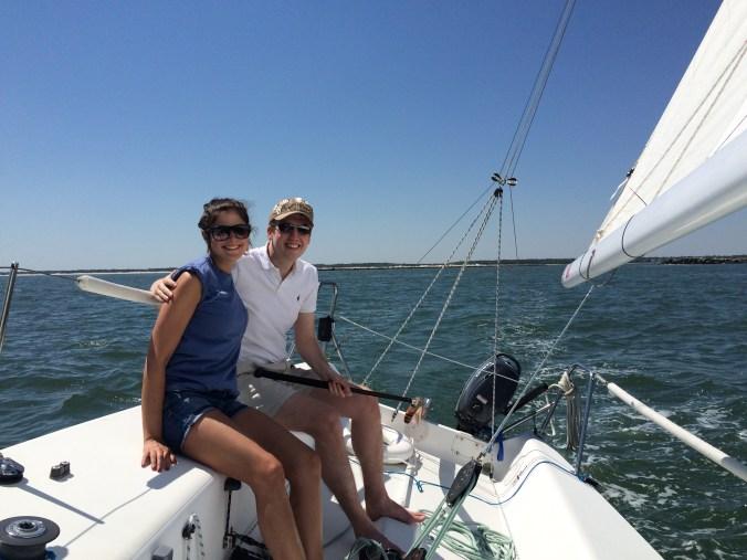 couple | sailing | cruise | charter | j80 | wirhgtsville | beach | sailboat | summer | date | north carolina | wilmington