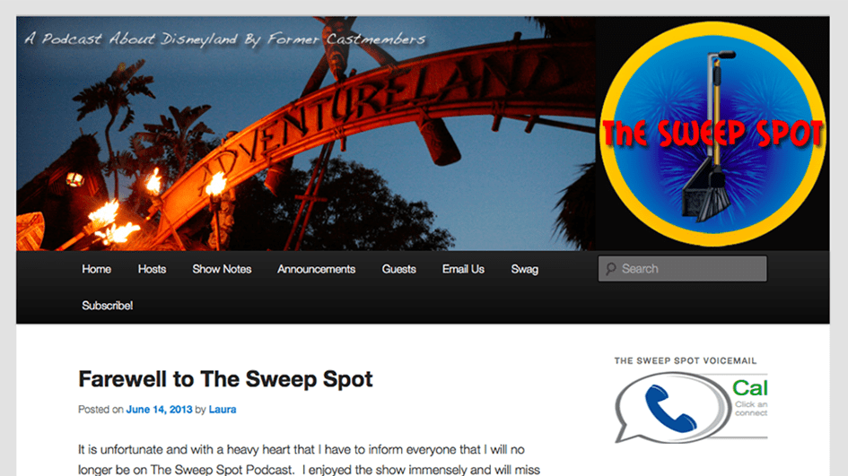 A Screenshot of The Sweep Spot podcast