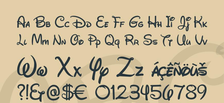 disney font | easy google fonts
