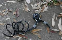 A broken bike lock –a symbol of security through obscurity