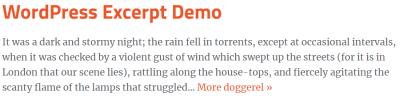 wordpress excerpt change read more