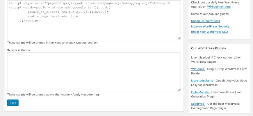 Using WordPress: Add Script to Header • WPShout